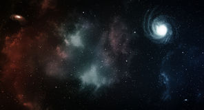 Space panorama. Royalty Free Stock Image