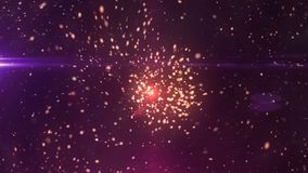Space Particles Reveal 4K vector illustration
