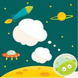 In space party invitation. With place for your text Royalty Free Stock Images