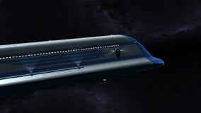 Space Passenger Liner stock video