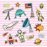 Space patch badges. Royalty Free Stock Photo