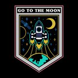 Space patches vector illustration