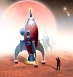Space patrol vector illustration