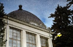 Space Pavillion. Architecture Of VDNKH Park In Moscow. Royalty Free Stock Photography
