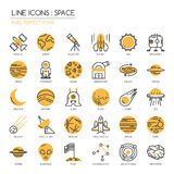 Space ,pixel perfect icon Royalty Free Stock Photography