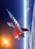 Space plane in earth orbit Royalty Free Stock Images