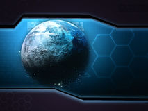 Space planet abstract background Royalty Free Stock Images
