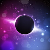 Space Planet with Constellation Background Stock Photo