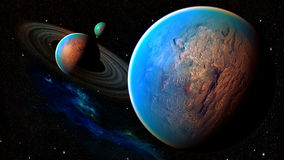 Space planet Stock Photo