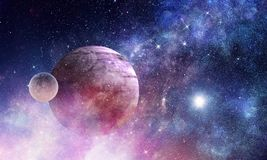 Space planets and nebula Royalty Free Stock Photos