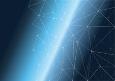 Space polygon background. Space abstract polygon shape background Stock Photography