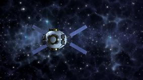 Space probe satellite in deep space stock footage
