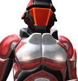 Space Ranger. Is red theme armor and helmet Stock Photo