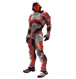 Space Ranger. Is red theme armor and helmet Royalty Free Stock Photo