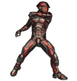 Space Ranger. Is red theme armor and helmet Royalty Free Stock Images