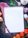 Space for recipe Stock Image