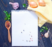 Space for recipe Stock Photography