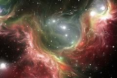 Space reflection nebula, illustration. Space reflection nebula the site of star formation, illustration Stock Photography