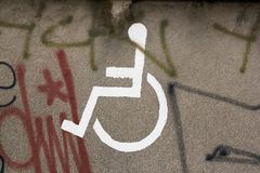 Space reserved for handicapped Royalty Free Stock Image