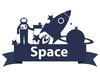 Space on the ribbon Royalty Free Stock Photos