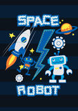 Space robot Royalty Free Stock Images
