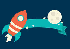 Space Rocket Banner Stock Photography
