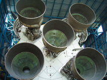 Space Rocket Boosters Thrusters Stock Photo