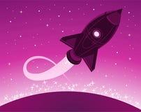 Space rocket cartoon Royalty Free Stock Image