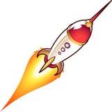 Space rocket cartoon Stock Photo