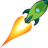 Space rocket cartoon Royalty Free Stock Images