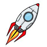 Space rocket. Cartoon vector illustration Royalty Free Stock Photos