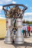 Space rocket engine RD-107A by the Corporation Kuznetsov Royalty Free Stock Photography