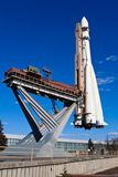 Space rocket - exposition on VDNH. Moscow. Soviet rocket used to launch a first man into space. Exposition on VDNH - exhibition centre in Moscow, Russia Stock Photography