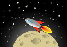 space rocket in flight Royalty Free Stock Images