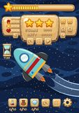 A Space Rocket Game Template stock illustration