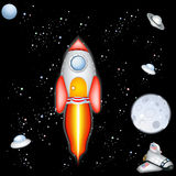 Space rocket Stock Images