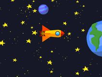 Space rocket journey space galaxy 2