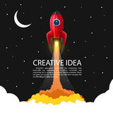 Space rocket launch stock illustration