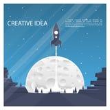 Space rocket launch. Cover art. Vector illustration stock illustration