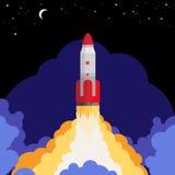 Space rocket launch illustration vector illustration