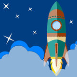 Space rocket launch. Royalty Free Stock Images