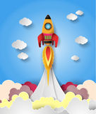 Space rocket launch. Royalty Free Stock Photography