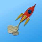Space rocket launch Royalty Free Stock Image