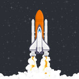 Space rocket launch vector. royalty free illustration