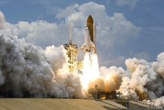 Space Rocket Launching Royalty Free Stock Images
