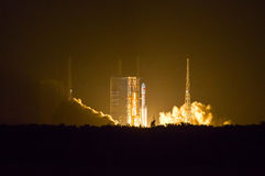 Space rocket launching. This is China`s new space rocket launching site located in Hainan China, beside the sea Royalty Free Stock Images