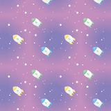 Space Rocket pattern Royalty Free Stock Photo