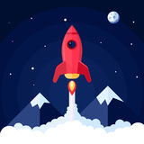 Space Rocket Poster Royalty Free Stock Image