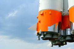 Space rocket and the sky Stock Image