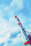 Space rocket in the sky Royalty Free Stock Photo